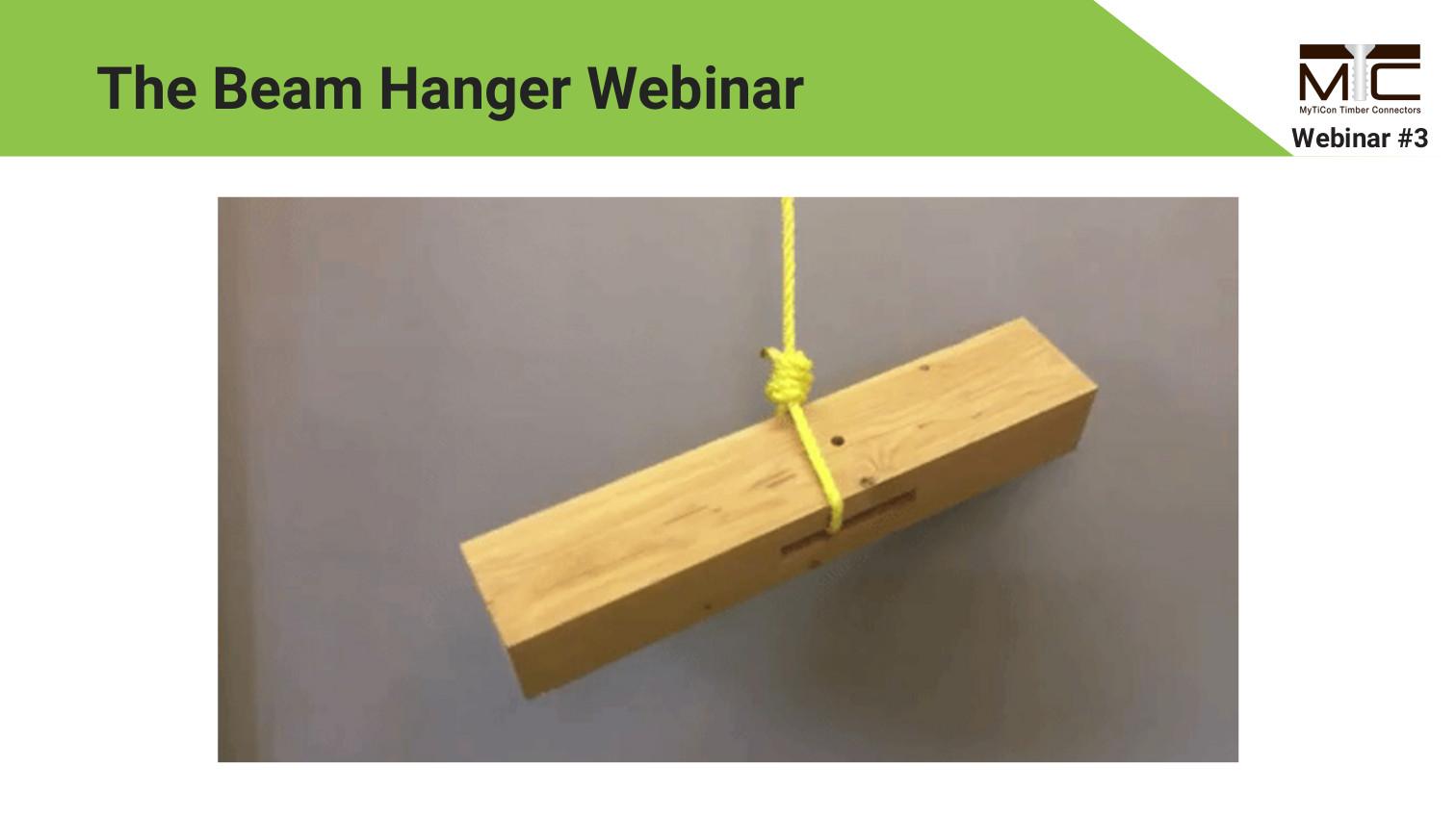 Pre-Engineered Beam Hangers Webinar
