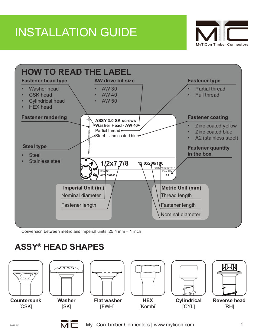 Structural Fasteners Installation Guide