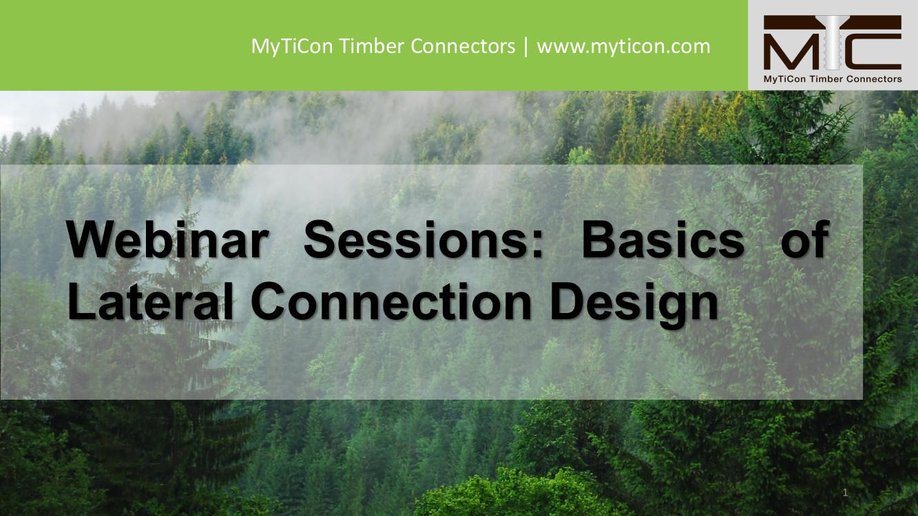 Basics of Lateral Connection Design Webinar