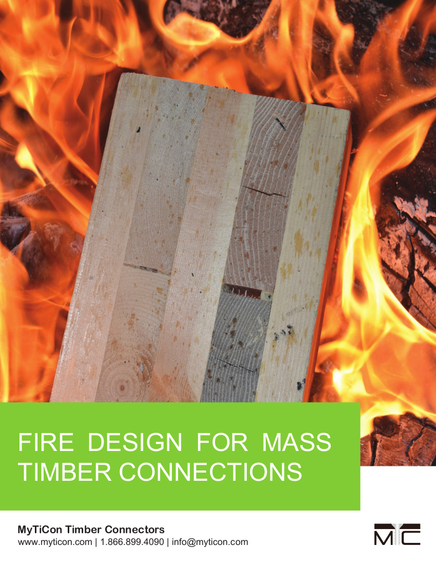 Fire Design for Mass Timber Connections