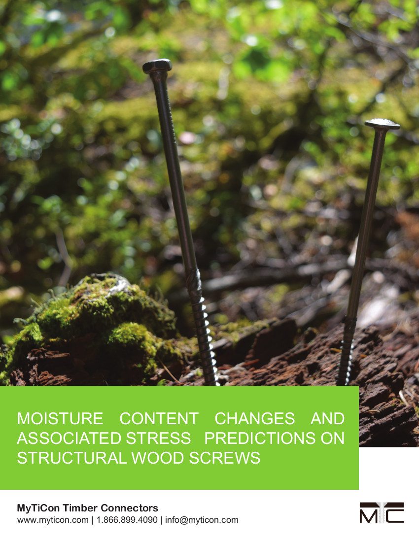 Timber Moisture Content Changes and Associated Stress Predictions on Structural Wood Screws