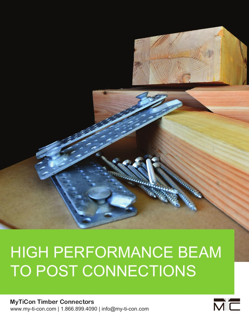 High Performance Beam to Post Connections
