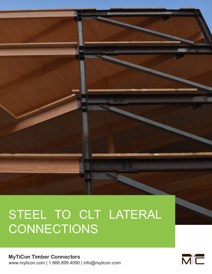 Steel to CLT Lateral Connections