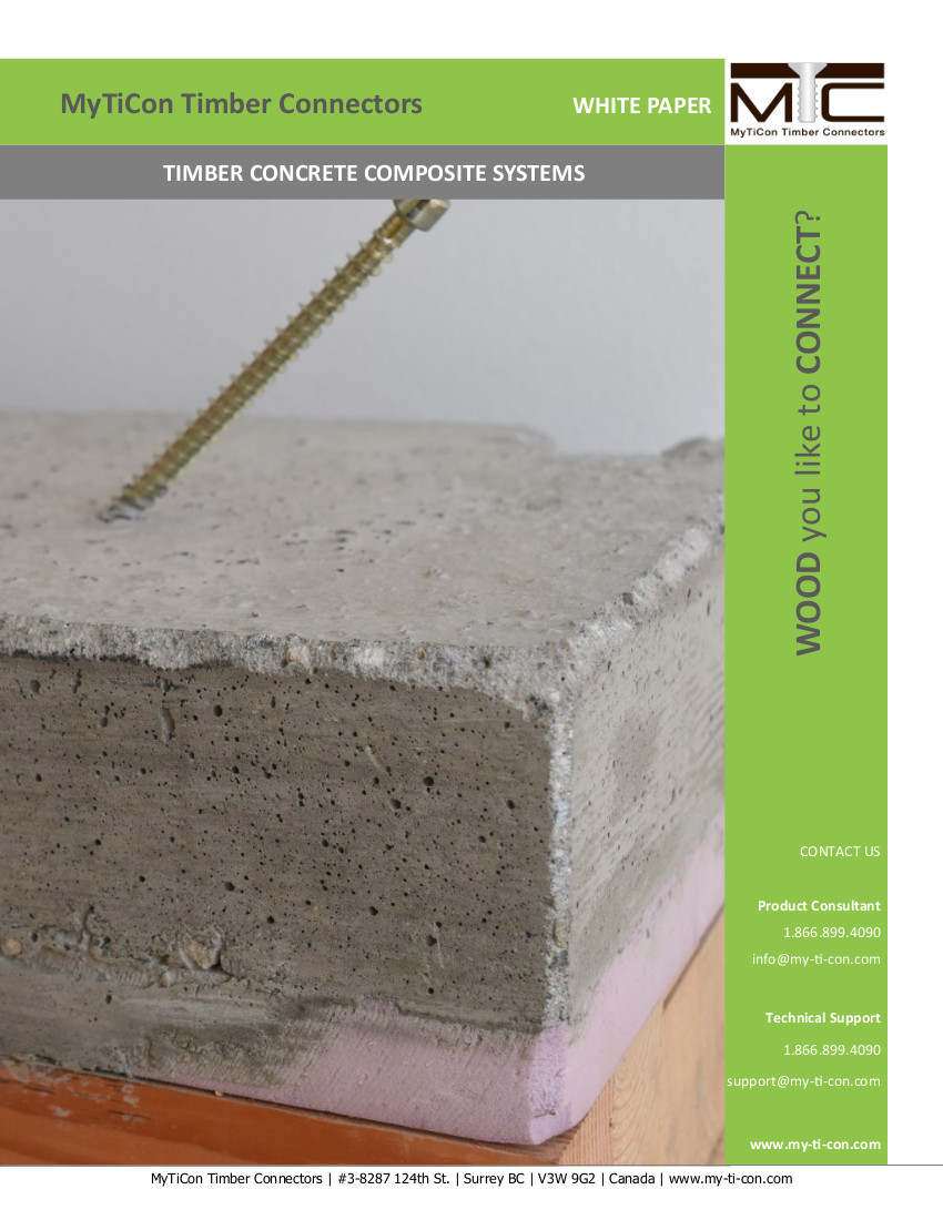 Timber Concrete Composite Systems (TCC) Design Example