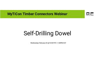 Self-Drilling Dowel Webinar