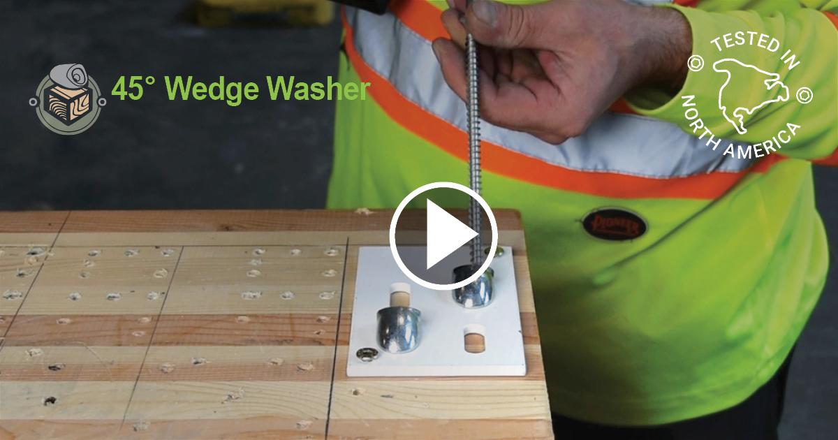 ICC-ESR Approved 45-Degree Washer Installation
