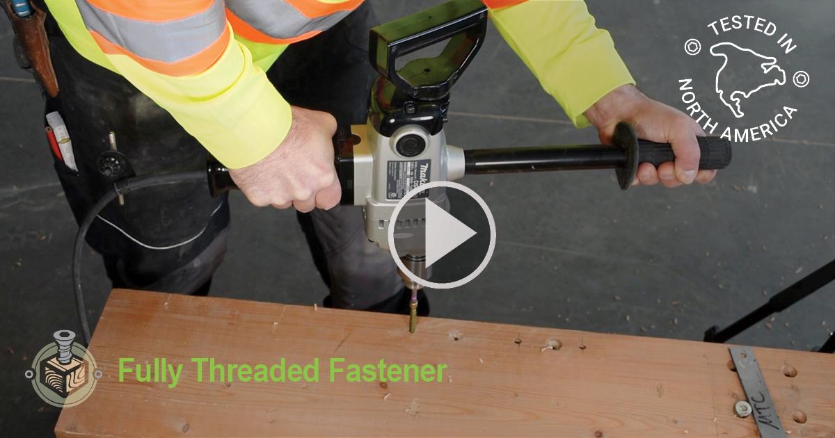 Fully Threaded Screws in Near Edge Application Installation