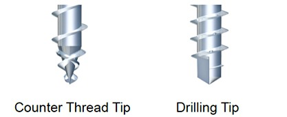 Figure 1 - Non-Pre-drilled Geometry Requirements